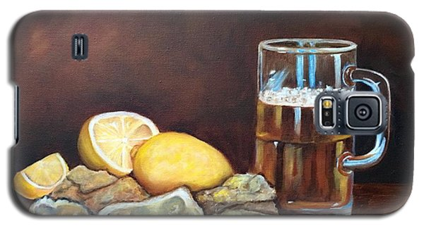 Galaxy S5 Case featuring the painting Oysters And Beer by Susan Dehlinger