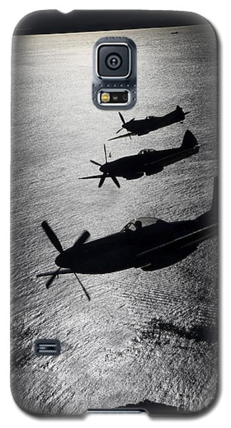Airplane Galaxy S5 Case - P-51 Cavalier Mustang With Supermarine by Daniel Karlsson