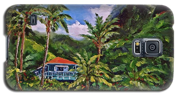 Galaxy S5 Case featuring the painting P F by Jennifer Beaudet