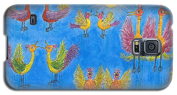p11 Crazy Bouncing Birds Galaxy S5 Case by Charles Cater
