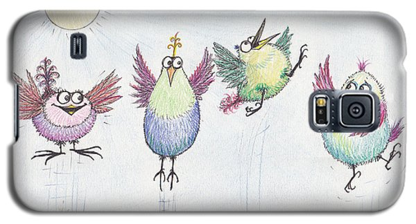 P4  Four Birds Celebrate Galaxy S5 Case by Charles Cater