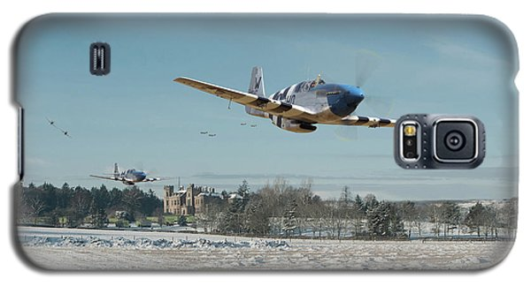 Galaxy S5 Case featuring the digital art P51 Mustang - Bodney Blue Noses by Pat Speirs