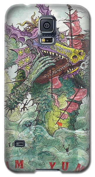 P7 Fish And Ships Galaxy S5 Case by Charles Cater