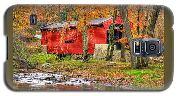 Pa Country Roads- Bartrams / Goshen Covered Bridge Over Crum Creek No.11 Chester / Delaware Counties Galaxy S5 Case