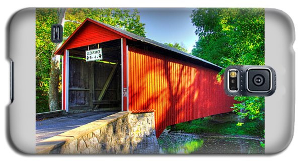Pa Country Roads - Witherspoon Covered Bridge Over Licking Creek No. 4b - Franklin County Galaxy S5 Case
