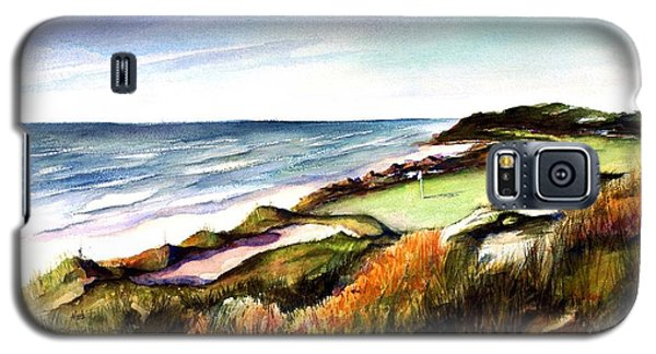 Galaxy S5 Case featuring the painting Pacific Dunes Golf Course by Marti Green