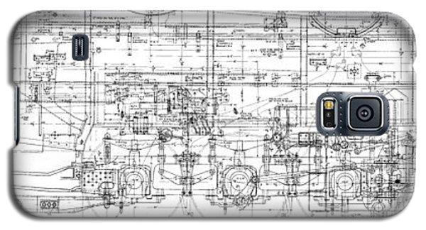 Pacific Locomotive Diagram Galaxy S5 Case