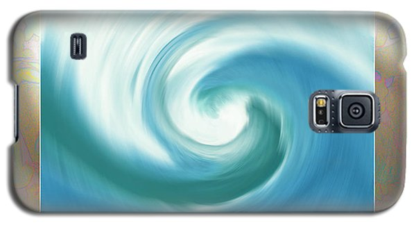 Pacific Swirl With Border Galaxy S5 Case