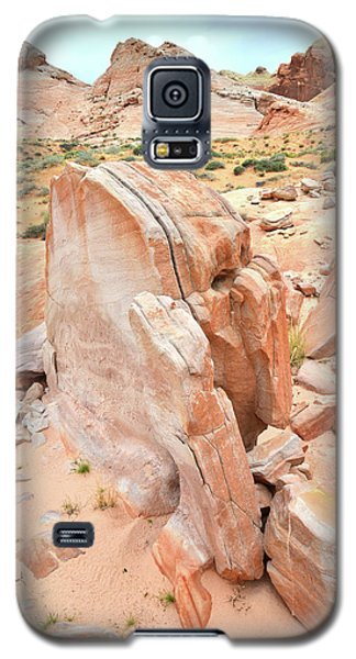 Galaxy S5 Case featuring the photograph Pages Of Stone In Valley Of Fire by Ray Mathis