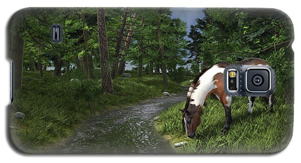 Paint Horse By The Forest Stream Galaxy S5 Case by Jayne Wilson