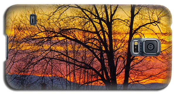 Paint Night Sunset Galaxy S5 Case by Alice Mainville