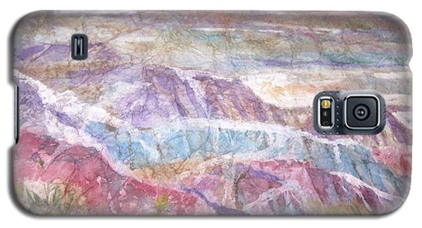 Galaxy S5 Case featuring the painting Painted Desert by Ellen Levinson