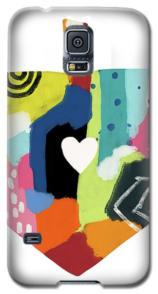 Galaxy S5 Case featuring the mixed media Painted Dreidel With Heart- Art By Linda Woods by Linda Woods