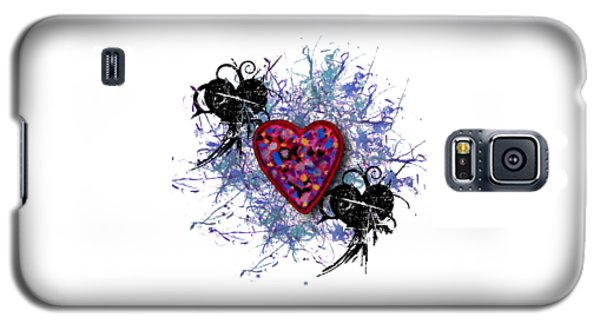 Painted Heart 3 Galaxy S5 Case