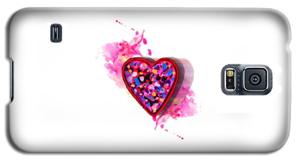 Painted Heart Galaxy S5 Case
