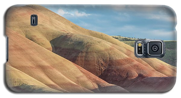 Galaxy S5 Case featuring the photograph Painted Hill And Clouds by Greg Nyquist