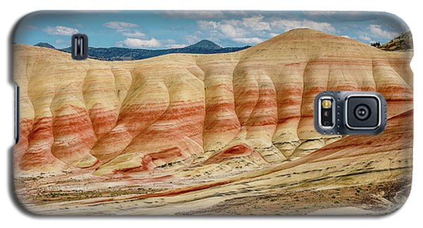 Galaxy S5 Case featuring the photograph Painted Hills And Afternoon Sky by Greg Nyquist