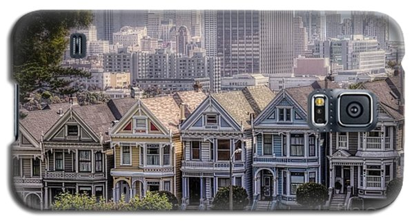 Painted Ladies Of Alamo Square Galaxy S5 Case by Mary Lou Chmura
