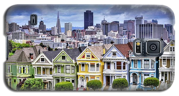 Painted Ladies Of San Francisco  Galaxy S5 Case by Carol Japp