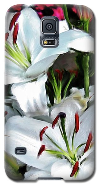 Painted Lilies Galaxy S5 Case