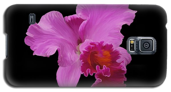 Galaxy S5 Case featuring the photograph Painted Orchid by Phyllis Denton
