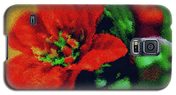 Galaxy S5 Case featuring the photograph Painted Poinsettia by Sandy Moulder