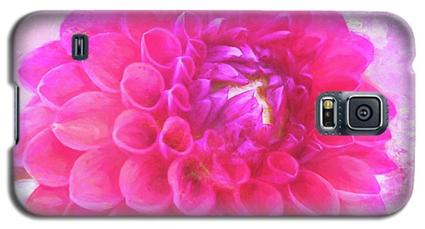 Painted Pompom Dahlia With The Works Galaxy S5 Case