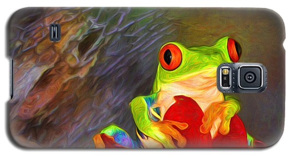 Painted Red Eyed Tree Frog Galaxy S5 Case