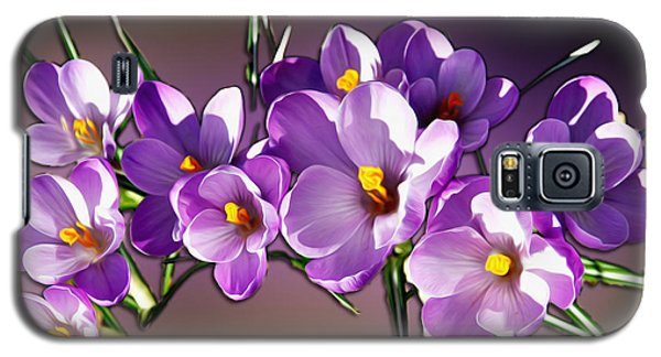 Galaxy S5 Case featuring the photograph Painted Violets by John Haldane
