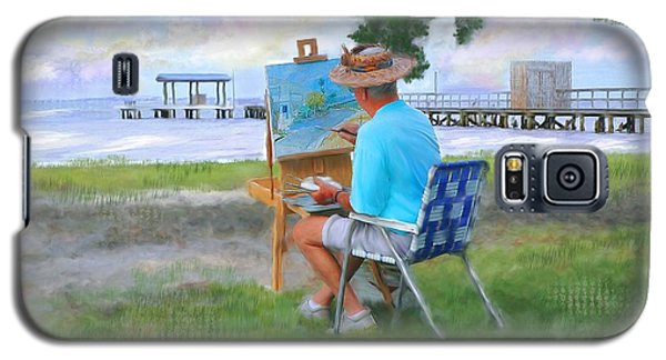 Painter On The Beach Galaxy S5 Case