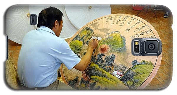Galaxy S5 Case featuring the photograph Painting Chinese Oil-paper Umbrellas by Yali Shi