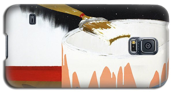Galaxy S5 Case featuring the painting Painting Out The Sky by Thomas Blood