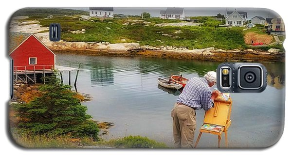 Painting Peggys Cove Galaxy S5 Case