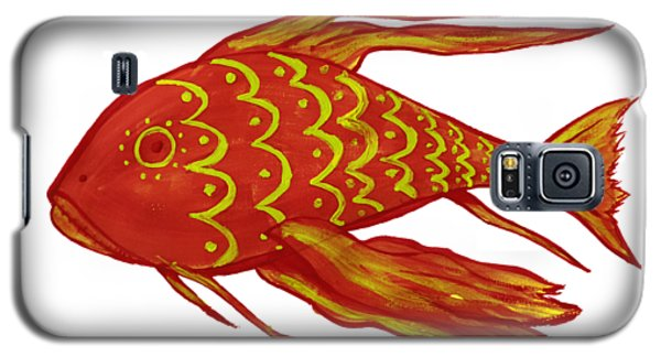 Painting Red Fish Galaxy S5 Case