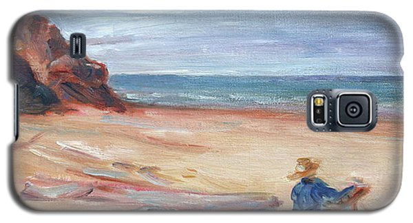 Painting The Coast - Scenic Landscape With Figure Galaxy S5 Case