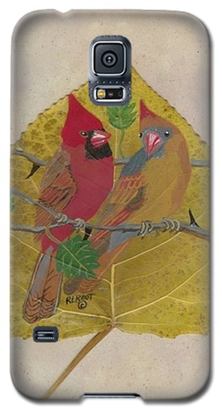 Pair Of Cardinals Galaxy S5 Case by Ralph Root