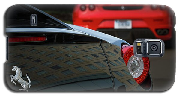 Galaxy S5 Case featuring the photograph Pair Of Ferraris by Dennis Hedberg