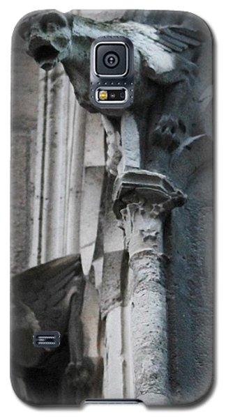 Galaxy S5 Case featuring the photograph Pair Of Griffons Of Notre Dame by Christopher Kirby