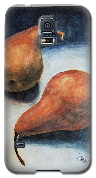 Galaxy S5 Case featuring the painting Pair Of Pears by Rachel Hames