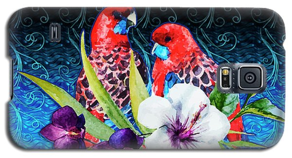 Paired Parrots Galaxy S5 Case