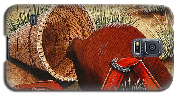 Galaxy S5 Case featuring the painting Paiute Baskets by Jennifer Lake