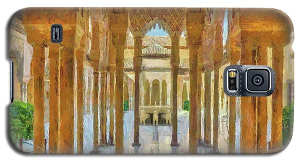 Galaxy S5 Case featuring the digital art Palace Of The Lions by Digital Photographic Arts