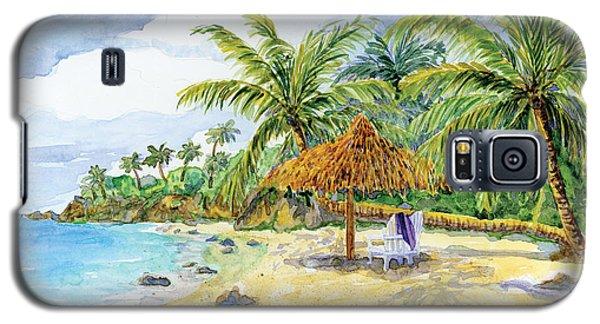 Palappa N Adirondack Chairs On A Caribbean Beach Galaxy S5 Case