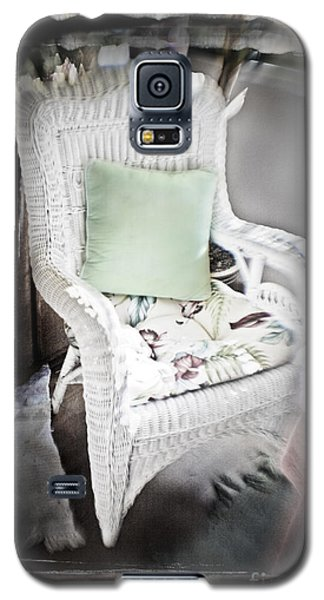 Pale Green Pillow Chair Galaxy S5 Case