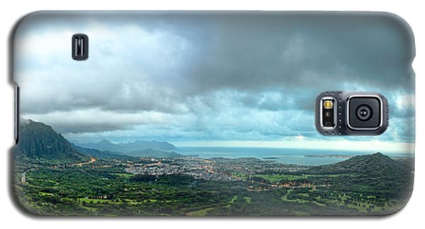 Galaxy S5 Case featuring the photograph Pali Lookout Dawn by Dan McManus