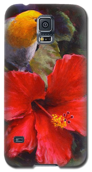 Palila And Hibiscus - Hawaiian Painting Galaxy S5 Case