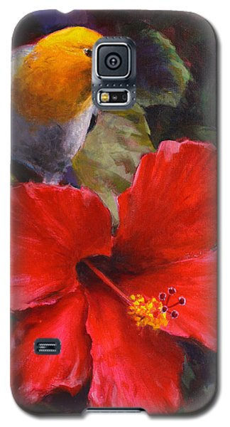 Palila And Hibiscus - Hawaiian Painting Galaxy S5 Case
