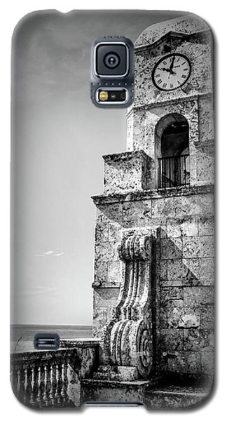 Palm Beach Clock Tower In Black And White Galaxy S5 Case