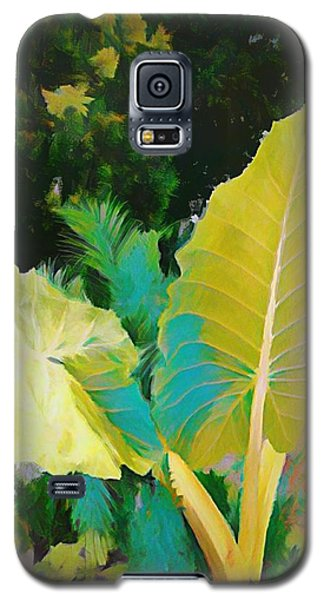 Galaxy S5 Case featuring the painting Palm Branches by Mindy Newman