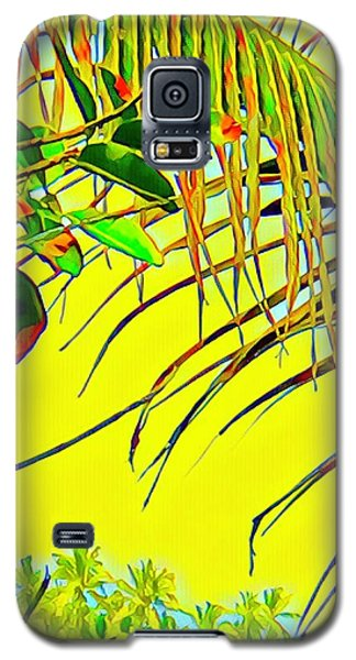 Palm Fragment In Yellow Galaxy S5 Case